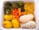 Рецепта Бяло пилешко месо със зеленчуци на фурна